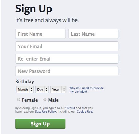 Sign Up For A Personal Account