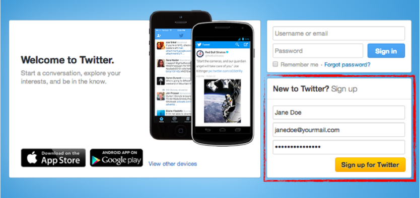 Creating a twitter account for business