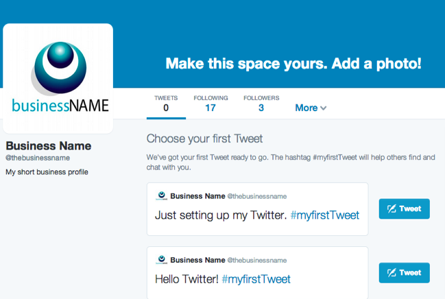 Setting up your busines Twitter account