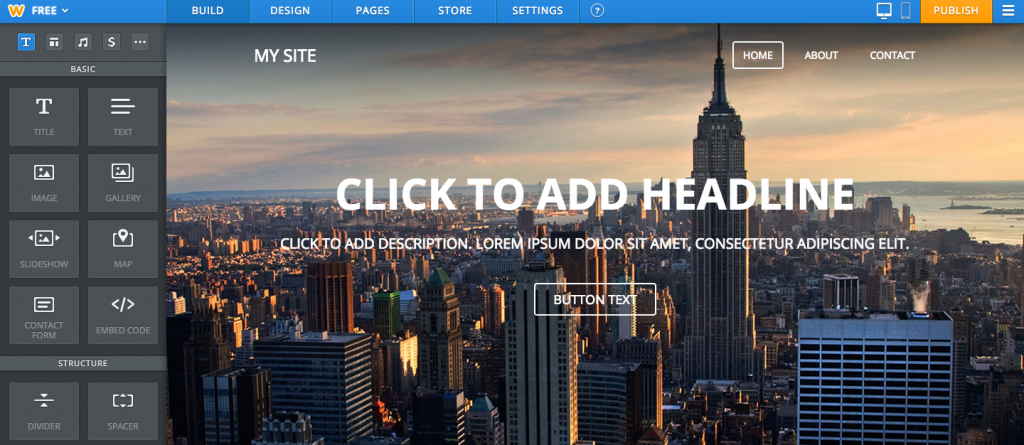 Weebly Template Default
