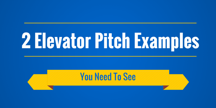 2 Elevator Pitch Examples