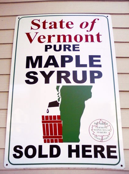STATE OF VERMONT MAPLE SYRUP