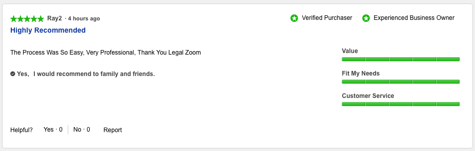 Legalzoom Customer Reviews 3