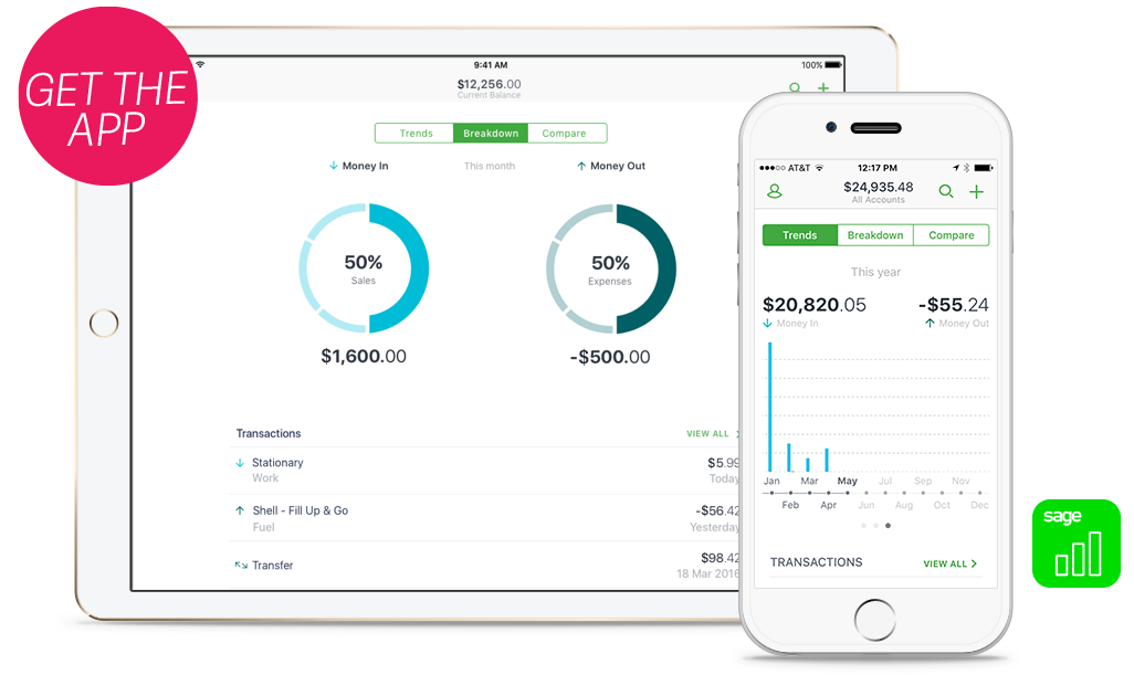 Sage One Accounting Review Mobile