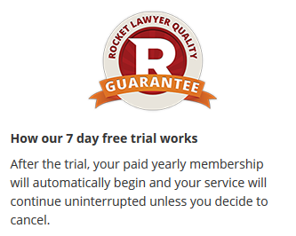 Rocketlawyer guarantee