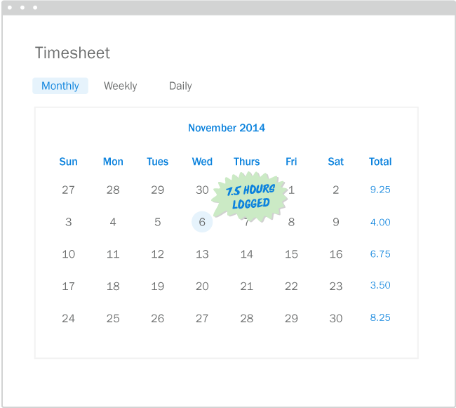 Freshbooks Easy Time Tracking