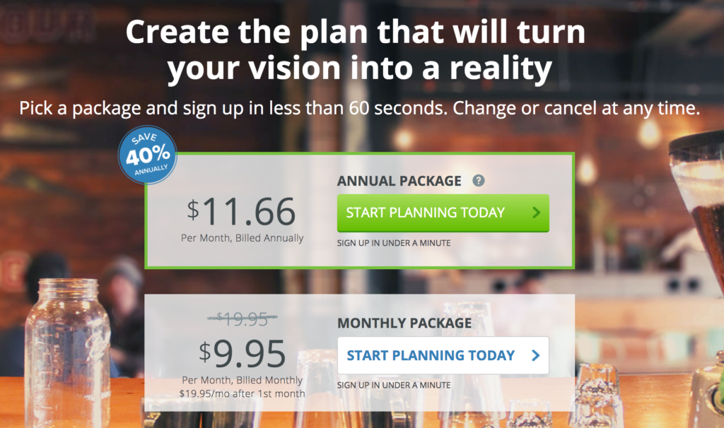 LivePlan Discount Pricing