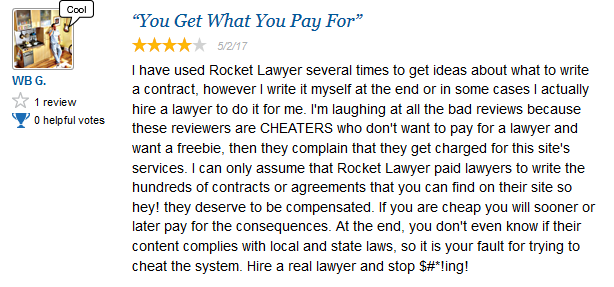 Rocket lawyer Review 1