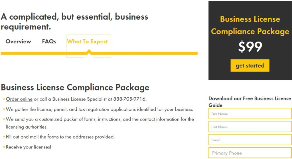 Incorporate.com Business License Package