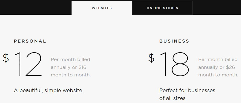 Squarespace Pricing & Features