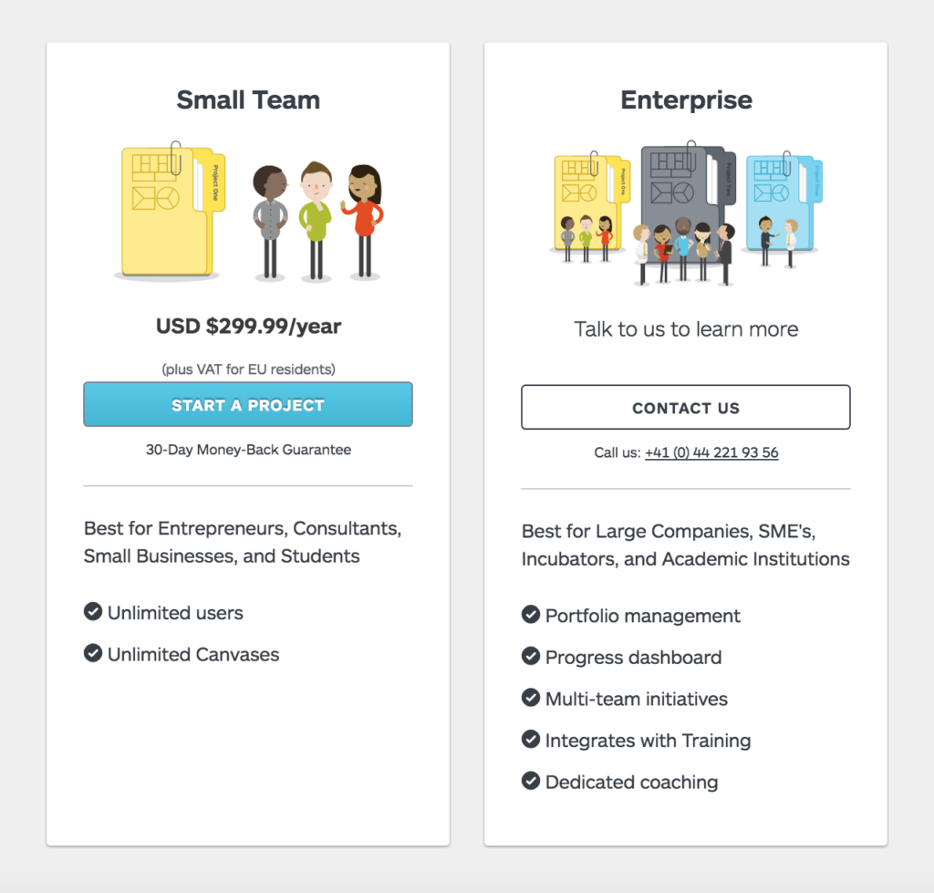 Strategyzer Pricing & Features