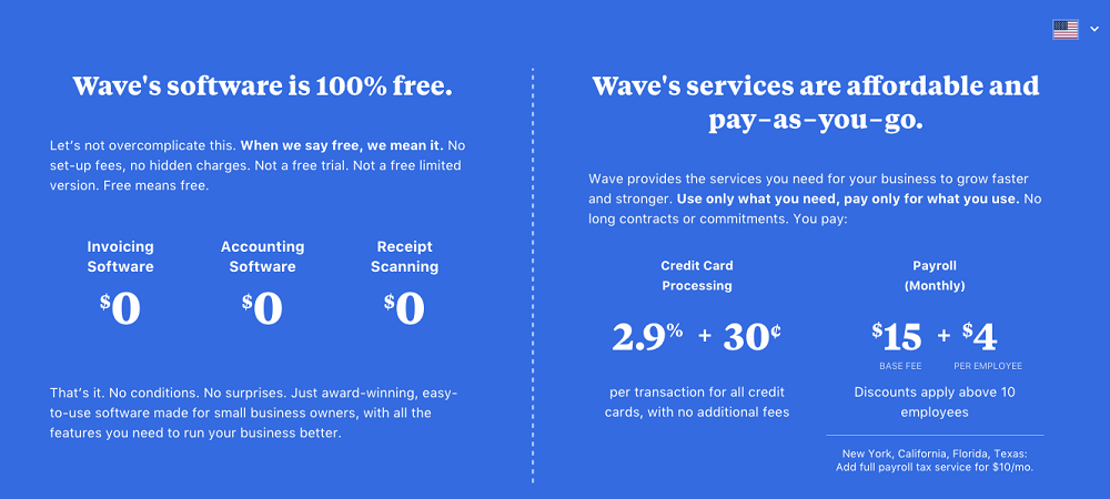 Wave Available Software Plans