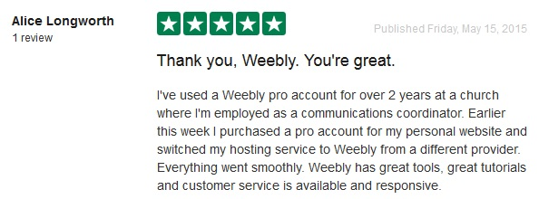 Weebly Customer Reviews 1