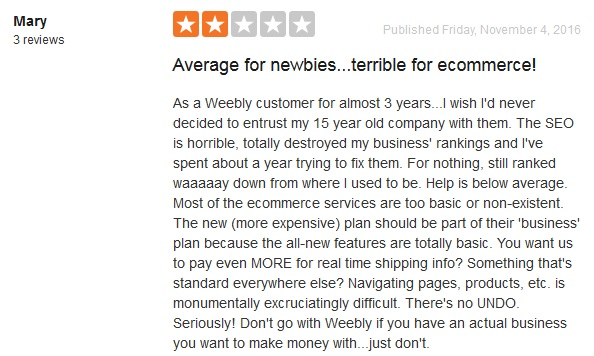 Weebly Customer Reviews 2