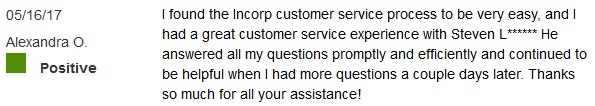 InCorp Customer Reviews 2