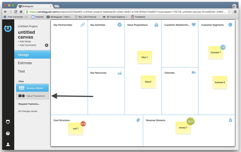 Strategyzer Modeling Canvas Preview