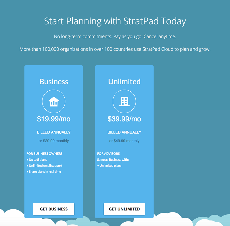 Stratpad-Pricing